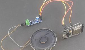ESP32 Audio Player using LM386 IC