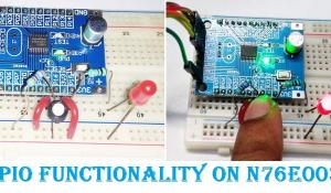 GPIO Functions on Nuvoton N76E003