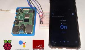 Raspberry Pi Home Automation with Node-RED using Google Assistant