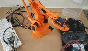 Hand Gesture Controlled Robotic Arm using Arduino Nano