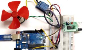 IR controlled DC motor using Arduino