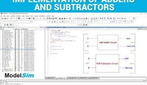 Implementation of Adders and Subtractors in VHDL using ModelSim