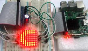 Interfacing 8x8 LED Matrix with Raspberry Pi