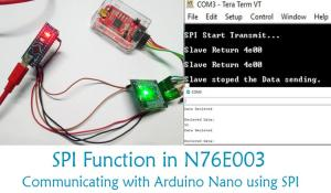 Interfacing Nuvoton with Arduino Through SPI