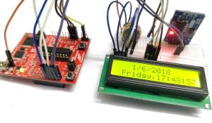 Interfacing RTC module (DS3231) with MSP430: Digital Clock