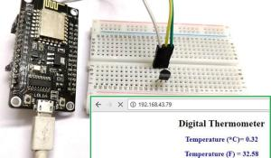 IoT Digital Thermometer using NodeMCU ESP-12 and LM35