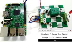 IoT Smart Garage Door Opener using Raspberry Pi