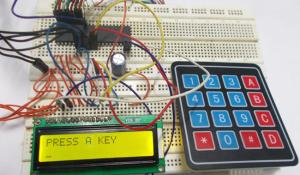4x4 Keypad Interfacing with AVR Microcontroller (ATmega32)