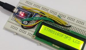 Interfacing 16x2 Alphanumeric LCD with STM8 Microcontroller