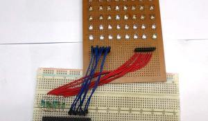 Scrolling Text Display on 8x8 LED Matrix using AVR Microcontroller