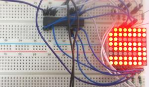 LED Matrix Interfacing with AVR Microcontroller