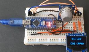 Measuring CO2 Concentration in Air using Arduino and MQ-135 Sensor
