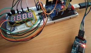 Multiplexing Four 7 Segment Displays using Arduino to Display Time