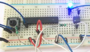 Octocoupler with ATmega8 Microcontroller