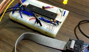 AVR Microcontroller Atmega16/32 PWM Tutorial to Control Brightness of LED