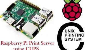 Raspberry Pi Print Server using CUPS