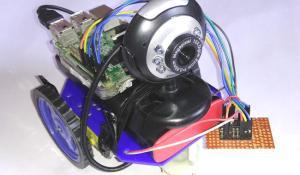 DIY IoT Based Raspberry Pi Surveillance Robotic Car