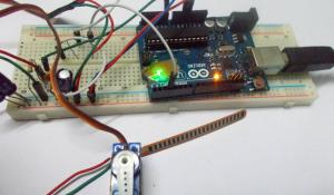 Servo Motor Control with Flex Sensor using Arduino