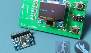 Portable Step Counter Using ATtiny85 and MPU6050