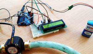 Water Flow Sensor using Arduino