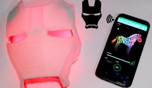 Wireless Iron Man Faceplate Wall Light
