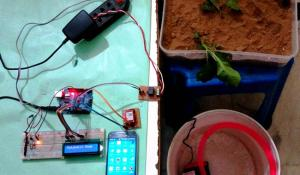 Arduino based Automatic Plant Watering System Project with SMS Alert