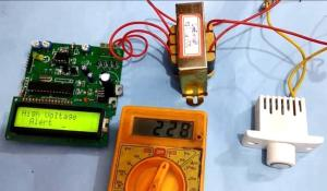 High and Low Voltage Power Detector Circuit with Message Alert using PIC Microcontroller