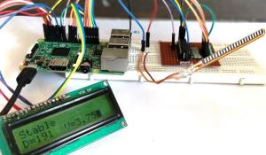 Interfacing Flex Sensor with Raspberry Pi using ADC0804