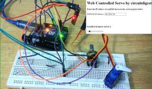 Web Controlled Servo using Arduino and Wi-Fi