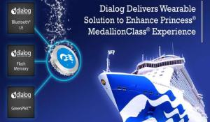 Dialog Semiconductor Delivers WiRa Technology to Princess MedallionClass Wearable Devices