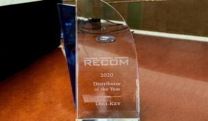 Digi-Key Electronics Recognized with the Distributor of the Year Award 2020