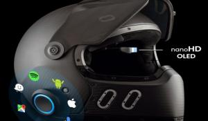 EyeRide HUD Smart Helmet with Nano OLED Heads Up Display