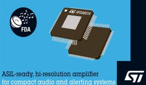 HFDA801A High-Resolution Audio Amplifier from STMicroelectronics