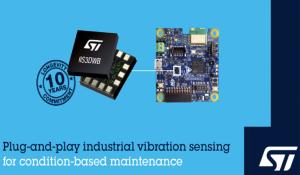 STEVAL-STWINKT1 Evaluation kit and IIS3DWB Vibration Sensor