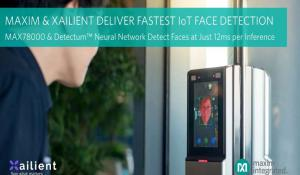 MAX78000 AI Microcontroller with Xailient Detectum Neural Network