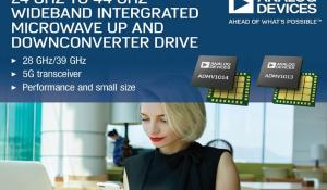 New Microwave Up and Downconverters with 24 GHz to 44 GHz Wideband and Compact Size Released By Analog Devices