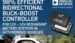 Bidirectional Buck-Boost Controller for 12V-12V Redundant Battery Systems in Autonomous Vehicles