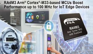 Arm Cortex-based 32-bit RA4M3 Microcontrollers