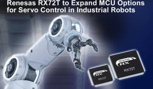 32-bit MCUs with dedicated hardware accelerator for Servo Control in Industrial Robots