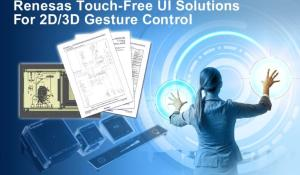 Touch-Free UI Solutions with capacitive Touch-Key Microcontroller for 2D/3D Gesture Control