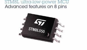 STM8L050 – New 8-bit Microcontroller with rich Analog peripherals and DMA controller in 8-Pin Package