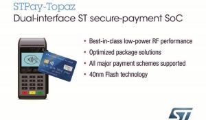 STMicroelectronics STPay Topaz System-on-Chip (SoC) Payment Solution