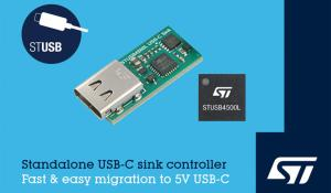 STUSB4500L - Standalone USB-C Sink Controller