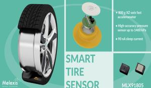 MLX91805 Smart Tire Pressure Sensor from Melexis