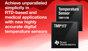 Highly accurate digital temperature sensors for RTD-based and medical designs