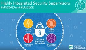 Single chip security supervisors MAX36010 and MAX36011 by maxim integrated