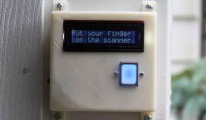 DIY Fingerprint Scanning Garage Door Opener