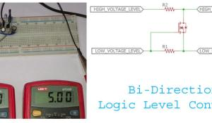 Bi-Directional Logic Level converter using MOSFET